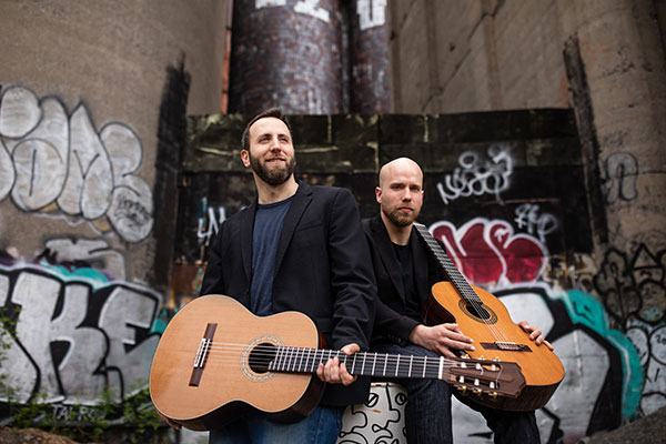 Cicchillitti & Cowan guitar duo, presented by Prairie Debut