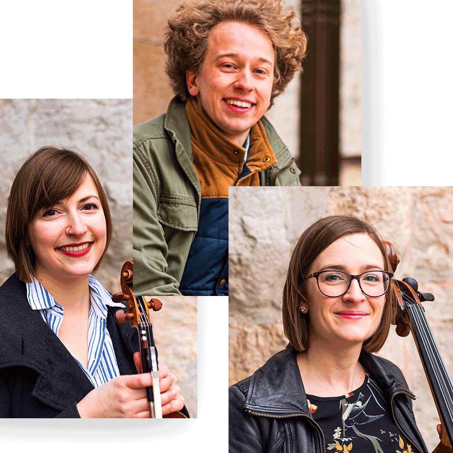 Alyssa Ramsey, John Sellick and Jessie Ramsey are the members of the Indigo Trio