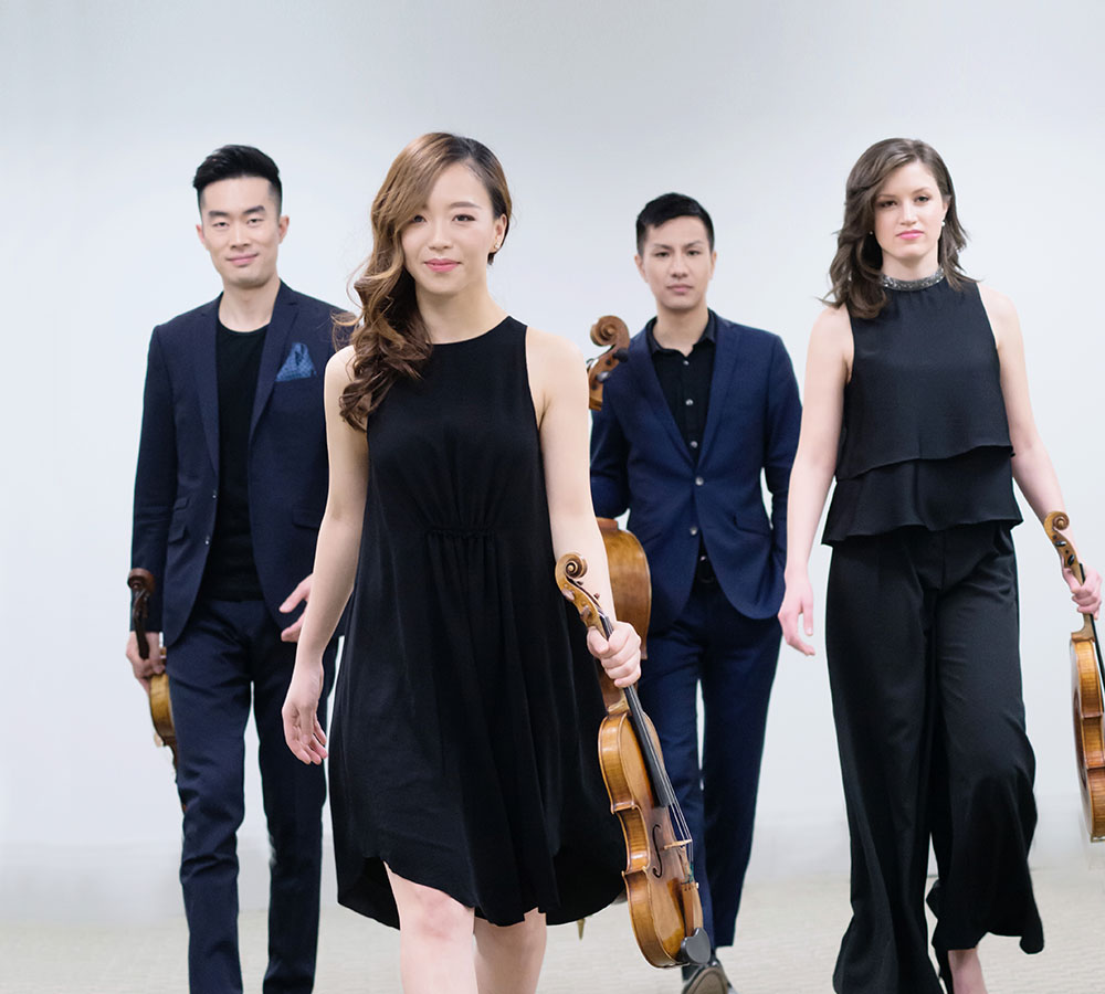 The Rolston String Quartet tours with Prairie Debut in 2018-19.