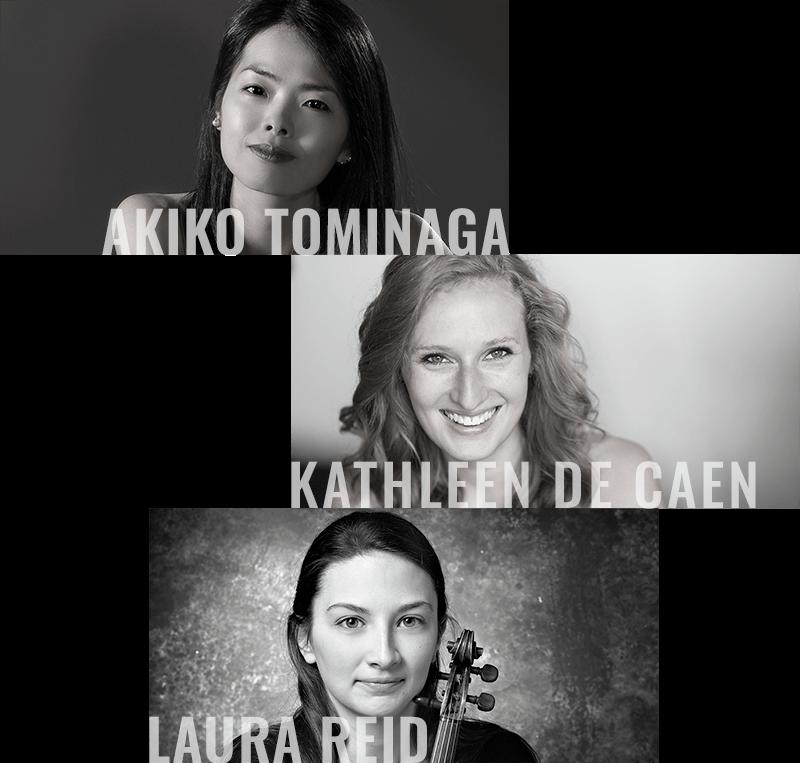 Tominaga-DeCaen-Reid piano trio presented by Prairie Debut