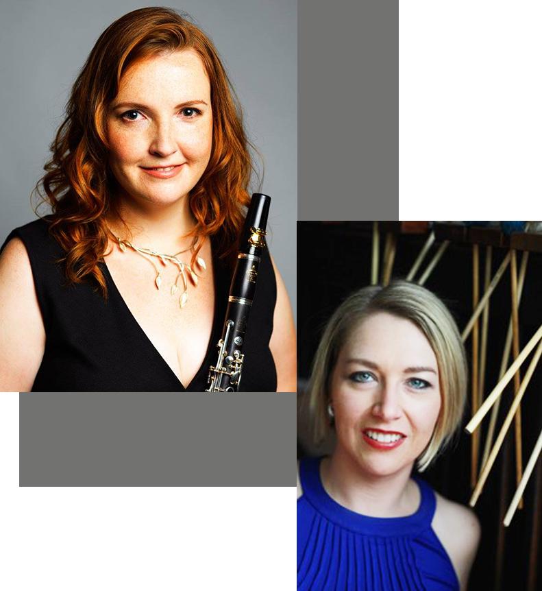 Vioarneisti | Cathy Wood (clarinet) / Victoria Sparks (marimba) - Prairie Debut 2021-22