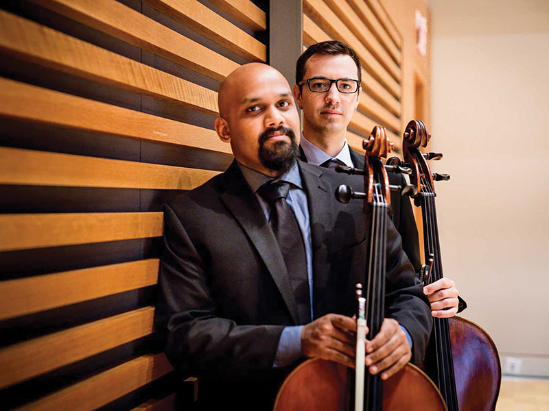 VC2 Cello Duo performs Beethoven's Cellists in their classical concert tour with Prairie Debut.